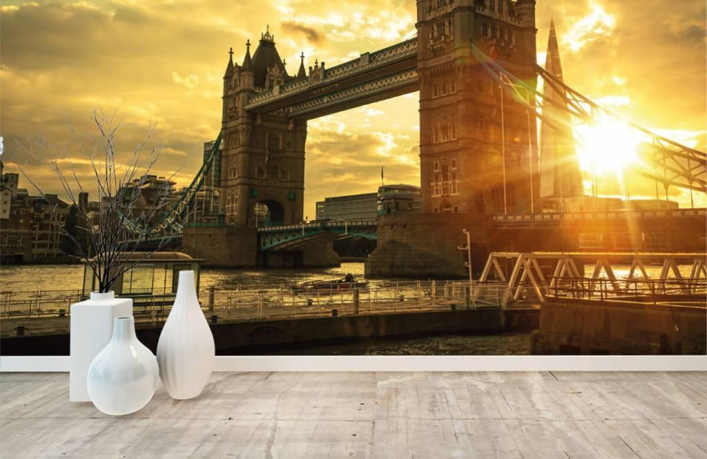 Steden behang - Londen Tower Bridge - Slaapkamer 8