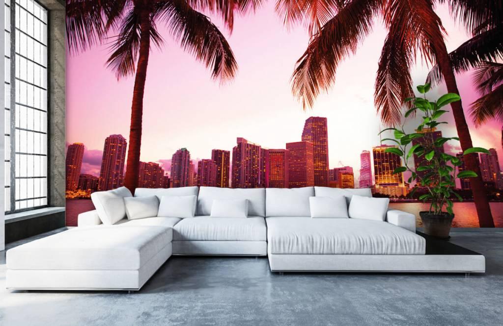 Steden behang - Skyline van Miami - Slaapkamer 5