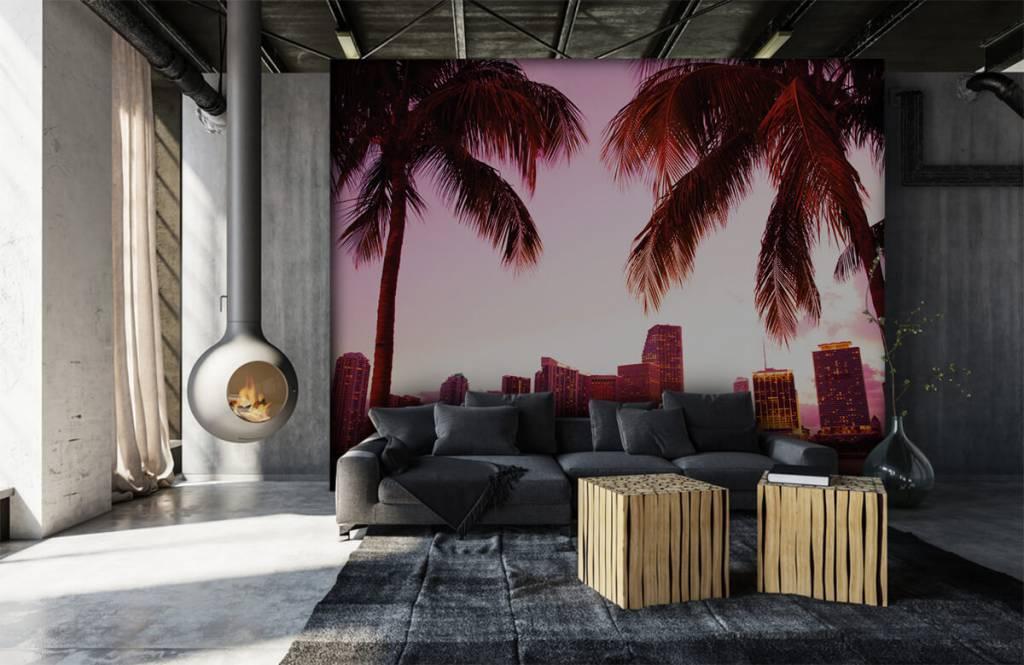 Steden behang - Skyline van Miami - Slaapkamer 6
