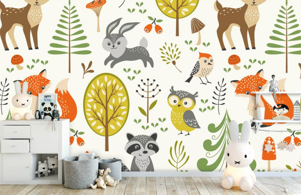 Overige - Dieren in het bos - Kinderkamer 5