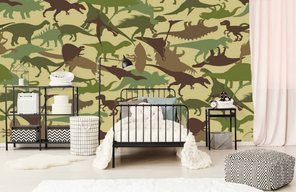 Dinosaurussen - Dino camouflage - Kinderkamer 2