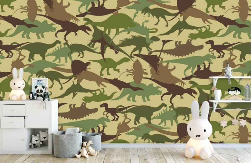Dinosaurussen - Dino camouflage - Kinderkamer 4
