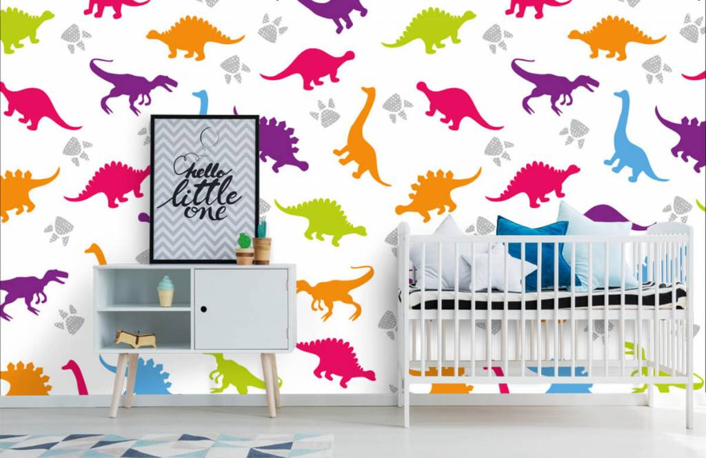 Jongensbehang - Dino's en pootjes - Kinderkamer 6