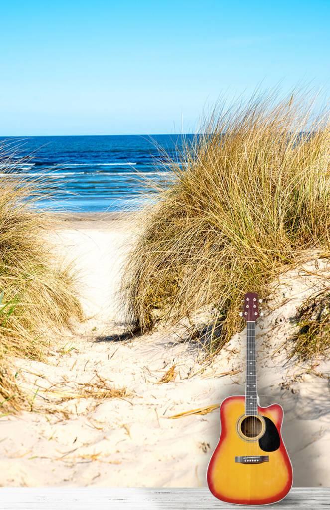 Stranden - Behang met duinen - Slaapkamer 1