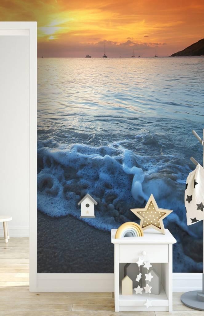 Stranden - Blauwe strand en zonsondergang - Slaapkamer 2