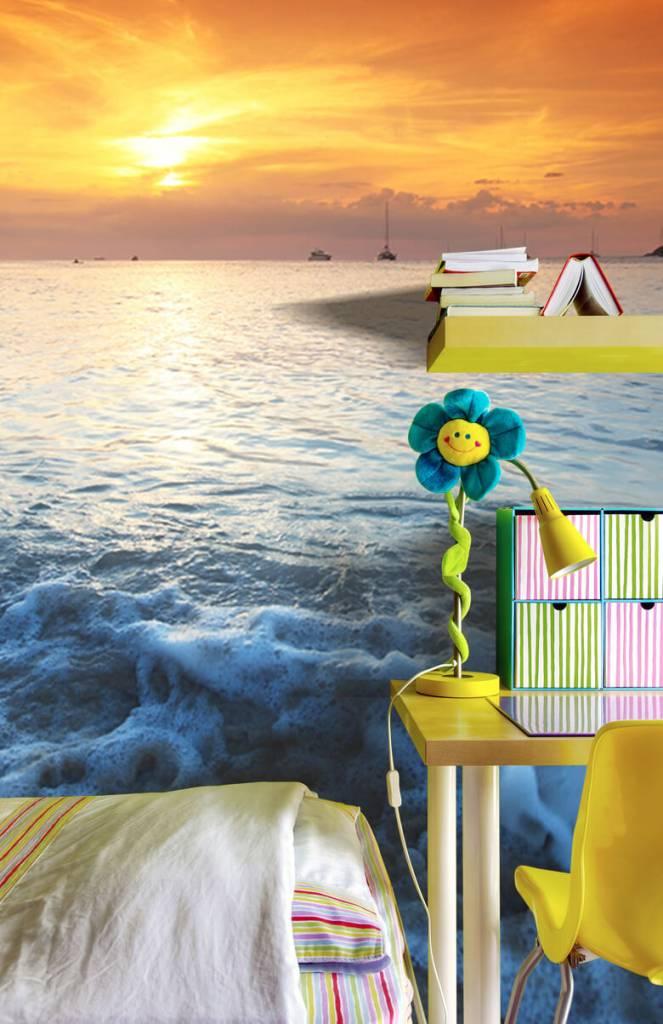 Stranden - Blauwe strand en zonsondergang - Slaapkamer 3