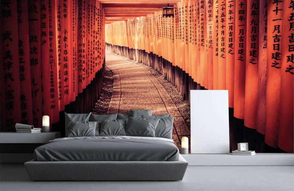 Steden behang - Chinese tunnel - Slaapkamer 4