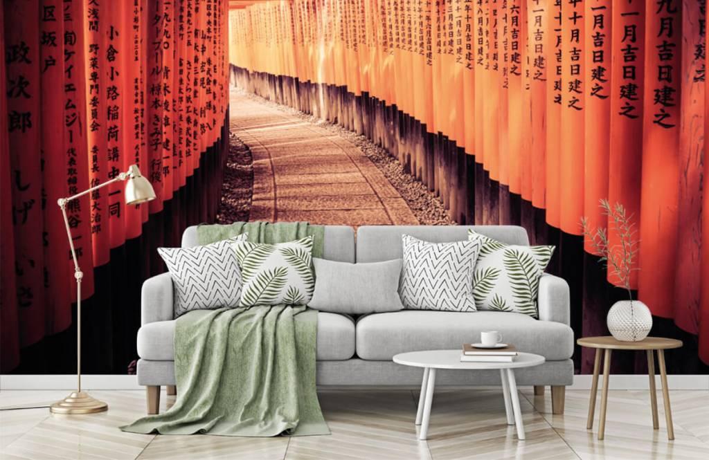 Steden behang - Chinese tunnel - Slaapkamer 7
