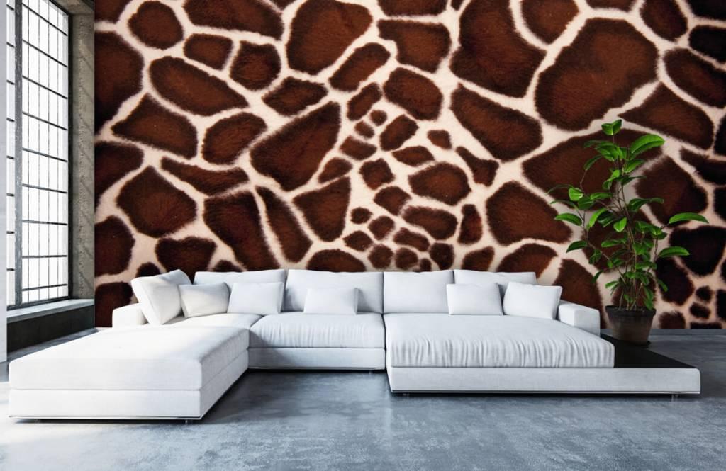 Behang Met Afbeelding.Behang Met Een Close Up Van Een Giraffe Huid Fotobehang