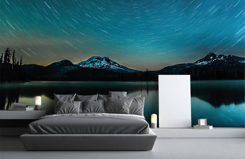 Noorderlicht - Donkere sterrenhemel - Slaapkamer 1