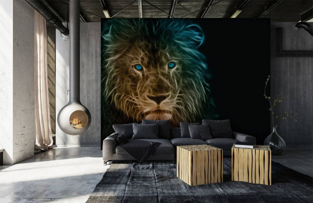 Dieren - Fantasie leeuw - Tienerkamer 1