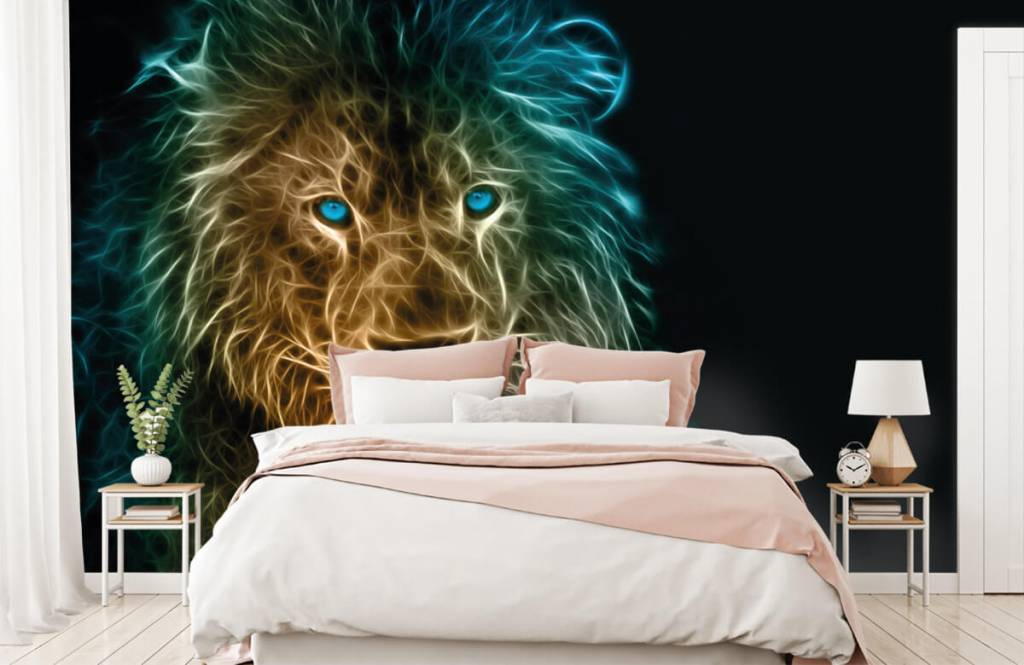 Dieren - Fantasie leeuw - Tienerkamer 2