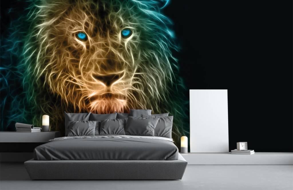 Dieren - Fantasie leeuw - Tienerkamer 3