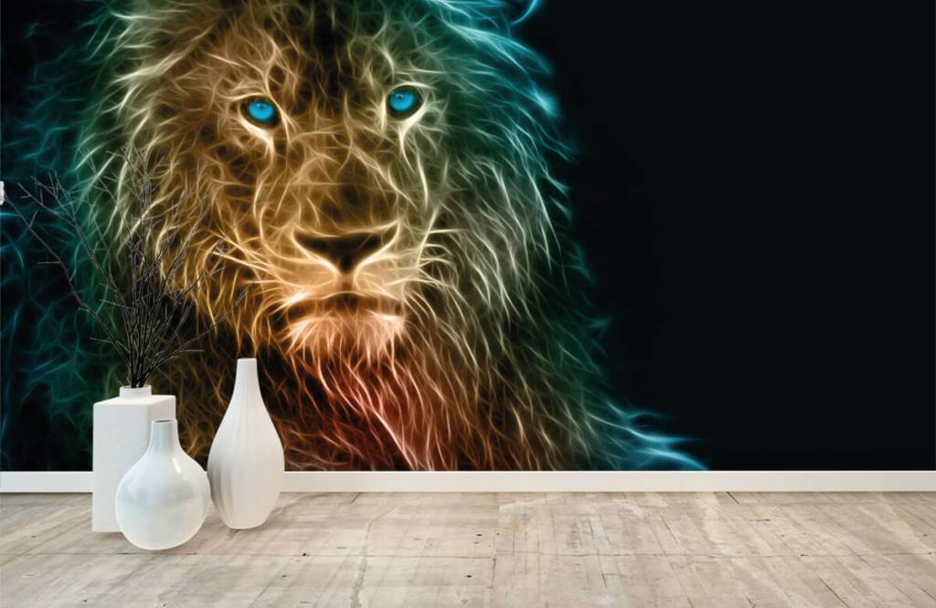 Dieren - Fantasie leeuw - Tienerkamer 8