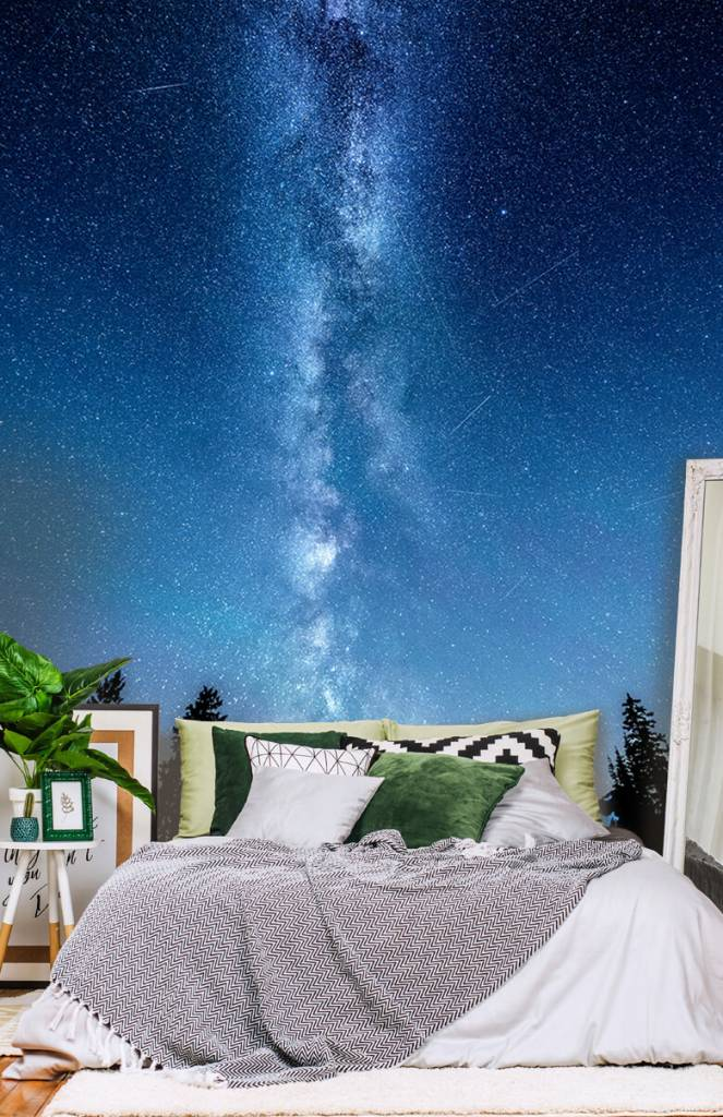 Winter - Foto van de melkweg - Slaapkamer 1