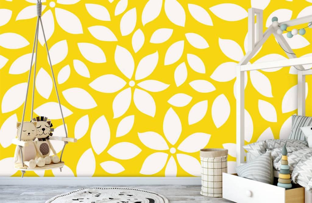 Overige - Geel bloemenpatroon - Babykamer 1