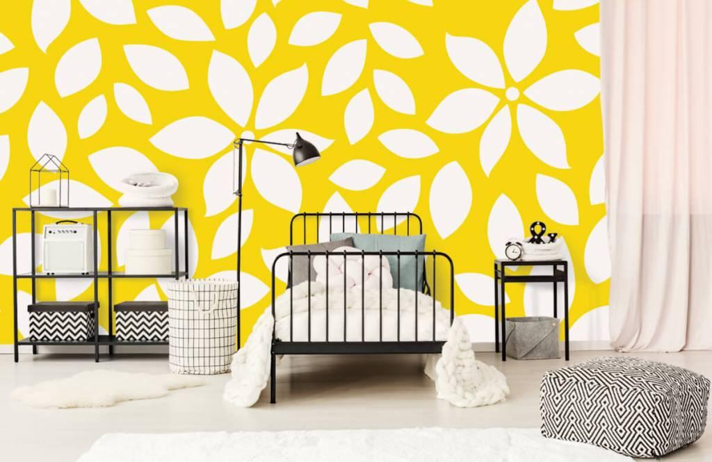 Overige - Geel bloemenpatroon - Babykamer 2