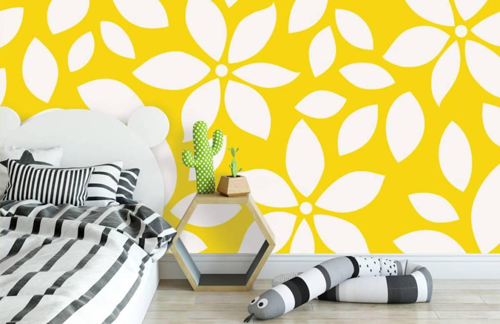 Overige - Geel bloemenpatroon - Babykamer 3