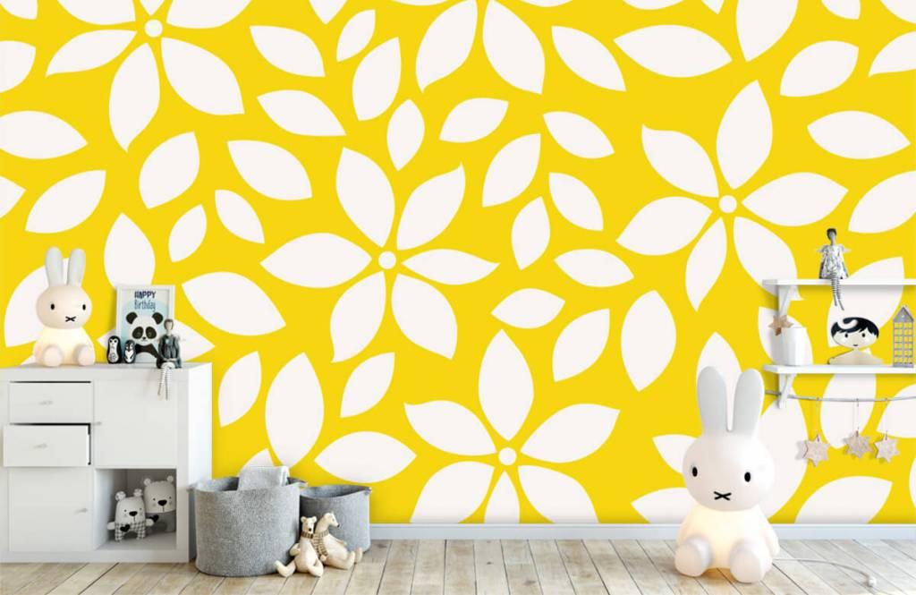 Overige - Geel bloemenpatroon - Babykamer 4