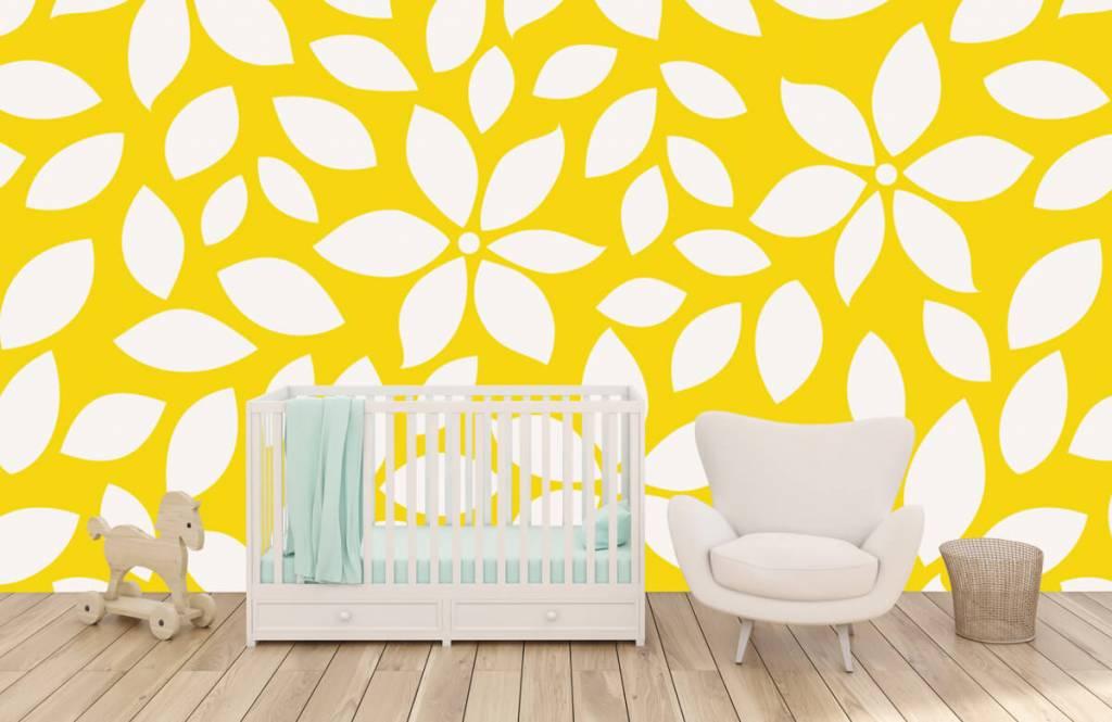 Overige - Geel bloemenpatroon - Babykamer 5