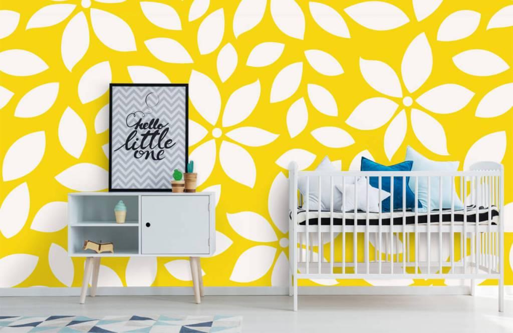 Overige - Geel bloemenpatroon - Babykamer 6