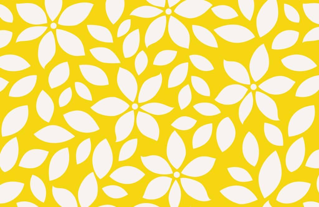 Overige - Geel bloemenpatroon - Babykamer 7