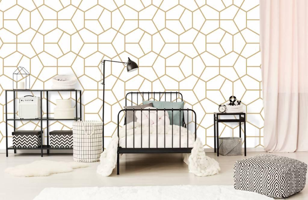 Overige - Gouden geometrisch patroon - Slaapkamer 2