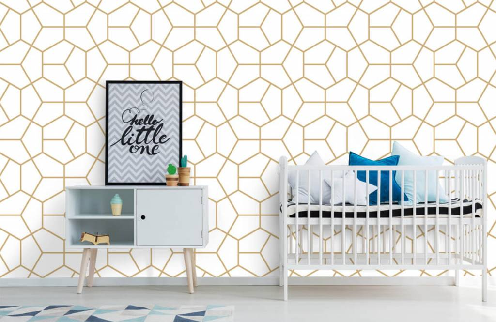 Overige - Gouden geometrisch patroon - Slaapkamer 4