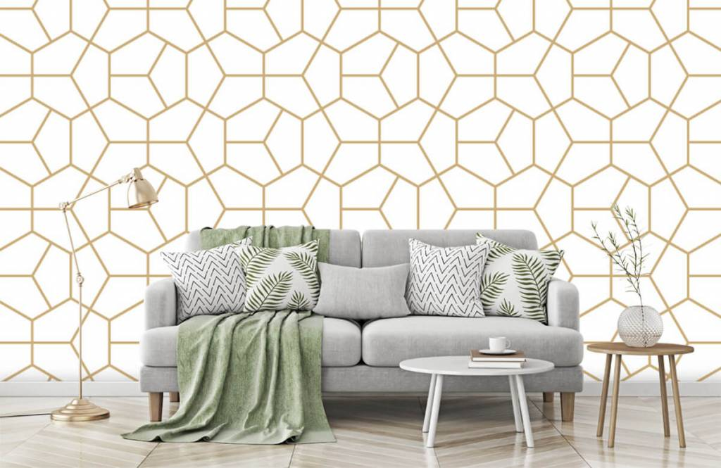 Overige - Gouden geometrisch patroon - Slaapkamer 5