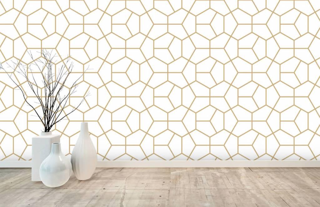 Overige - Gouden geometrisch patroon - Slaapkamer 6