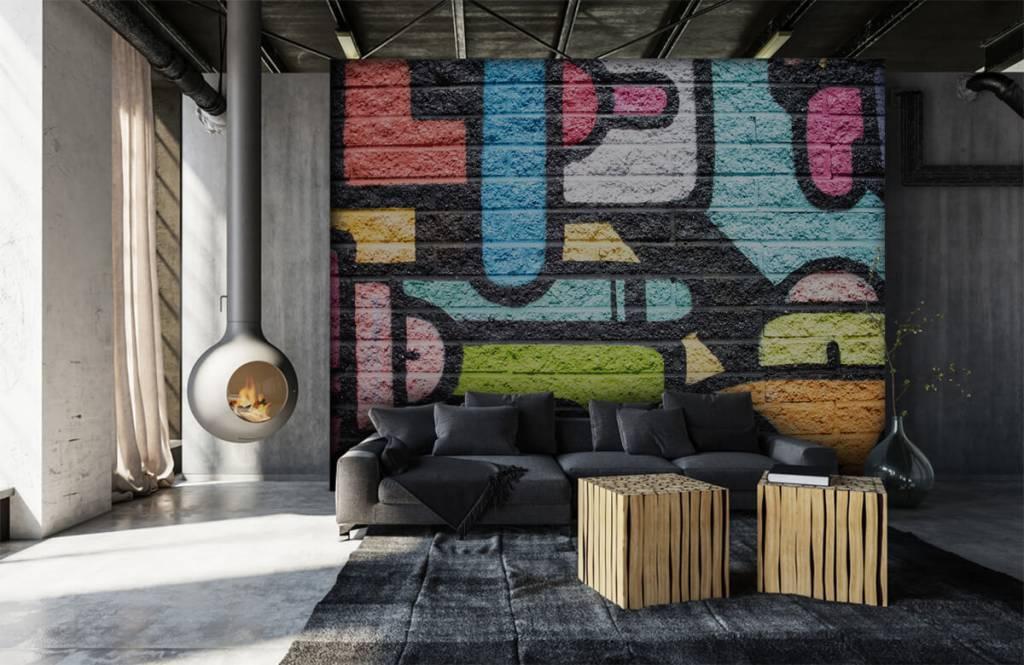 Graffiti - Graffiti muur - Tienerkamer 1