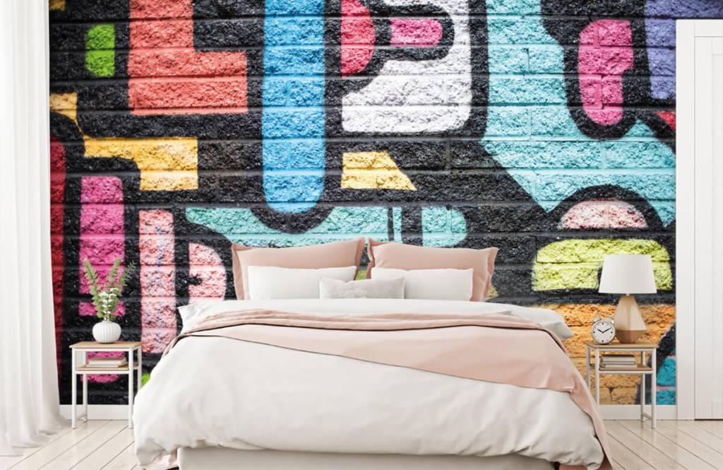 Graffiti - Graffiti muur - Tienerkamer 2