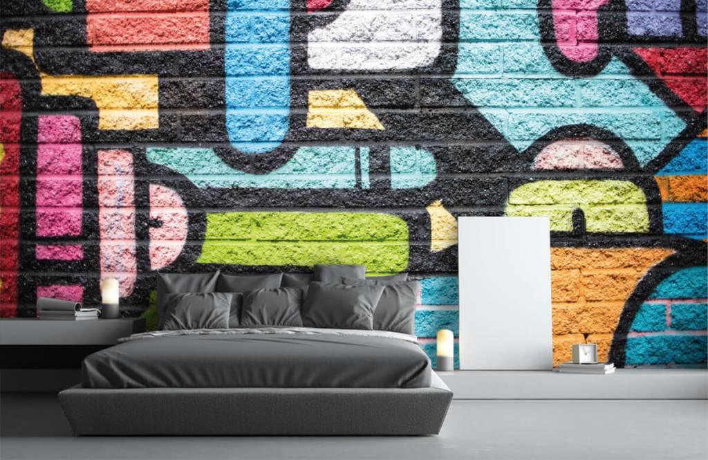 Graffiti - Graffiti muur - Tienerkamer 3