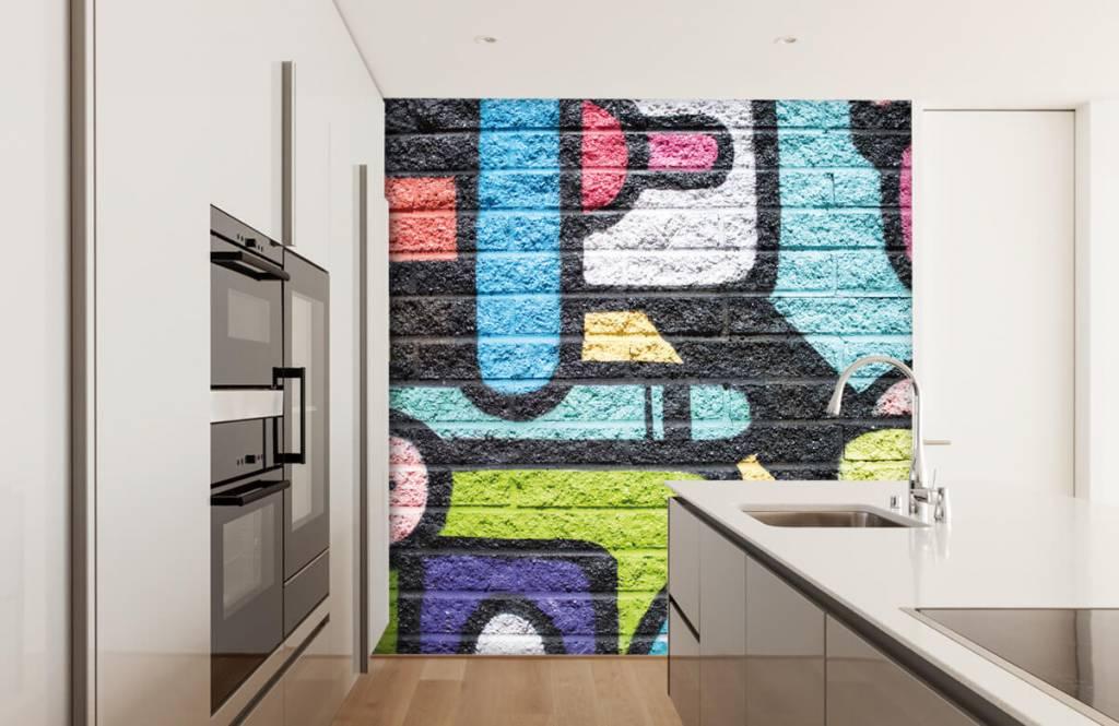 Graffiti - Graffiti muur - Tienerkamer 4