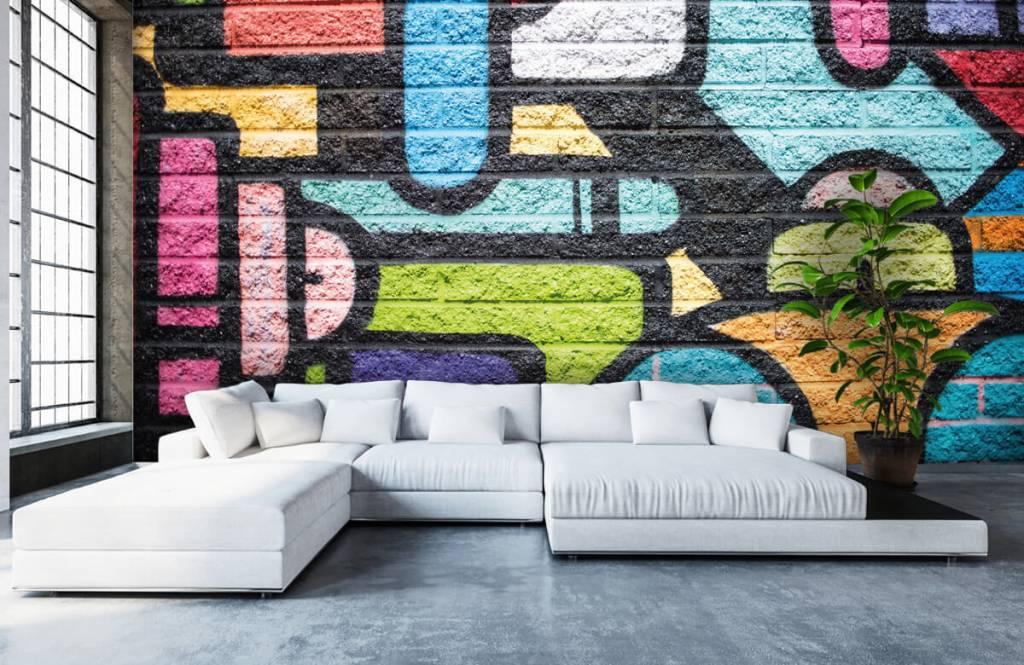 Graffiti - Graffiti muur - Tienerkamer 6