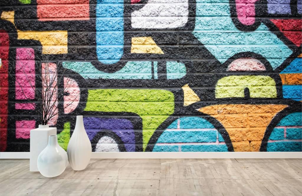 Graffiti - Graffiti muur - Tienerkamer 8