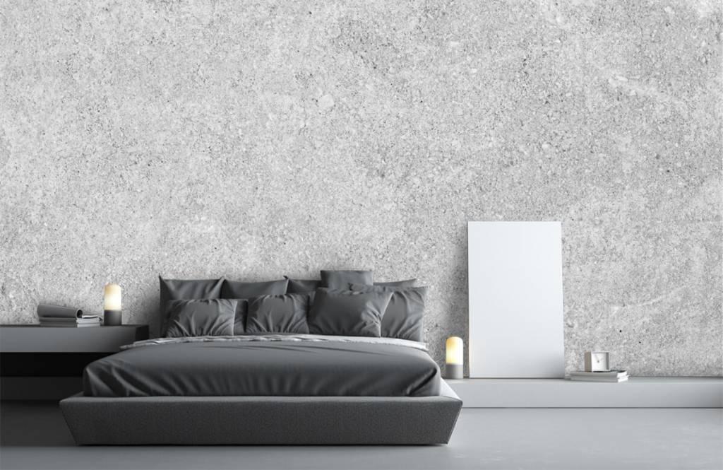 Betonlook behang - Grijze beton structuur - Keuken 1