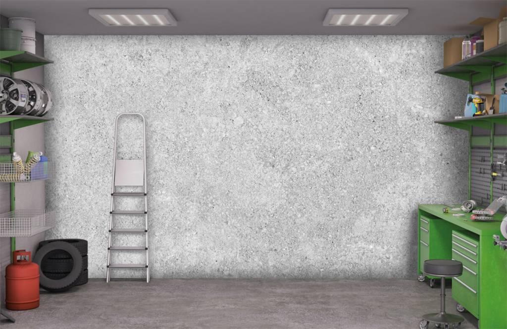 Betonlook behang - Grijze beton structuur - Keuken 3