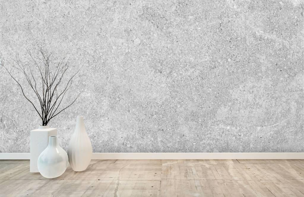 Betonlook behang - Grijze beton structuur - Keuken 4