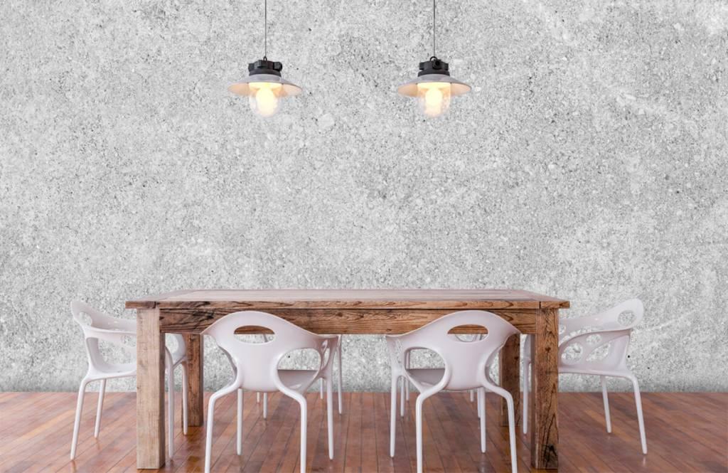 Betonlook behang - Grijze beton structuur - Keuken 5