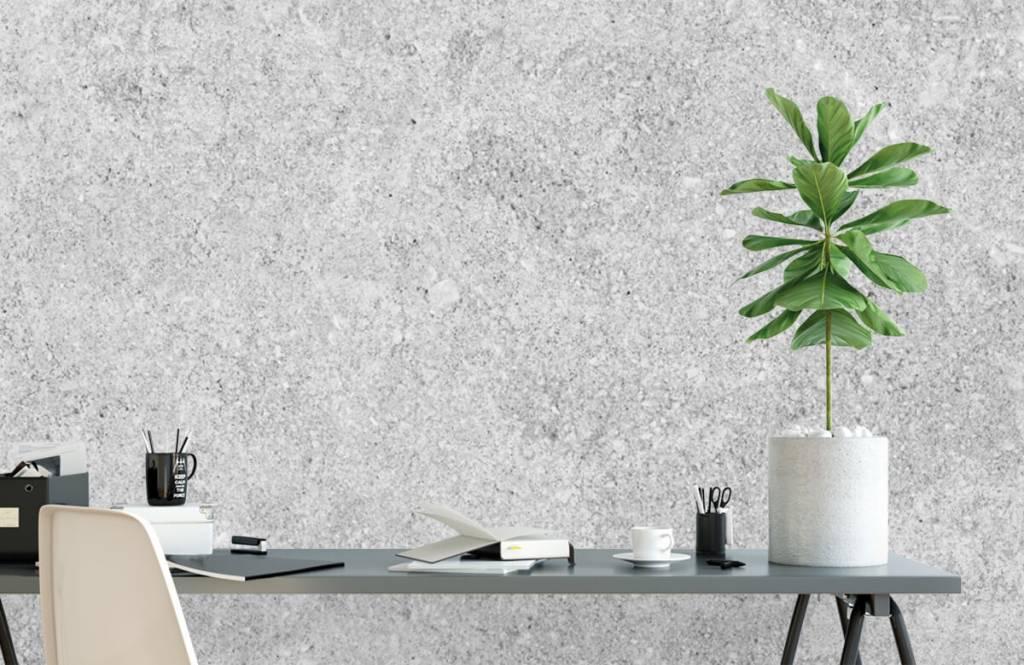 Betonlook behang - Grijze beton structuur - Keuken 6