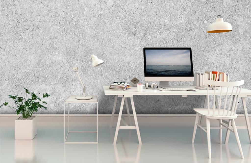 Betonlook behang - Grijze beton structuur - Keuken 7