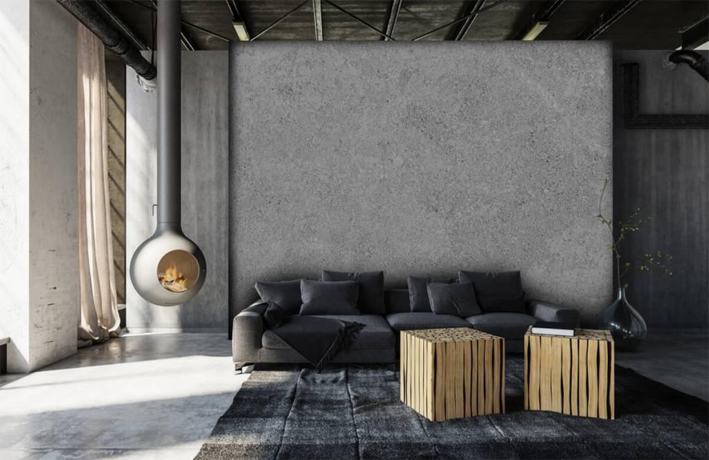Betonlook behang - Grijze beton structuur - Keuken 8
