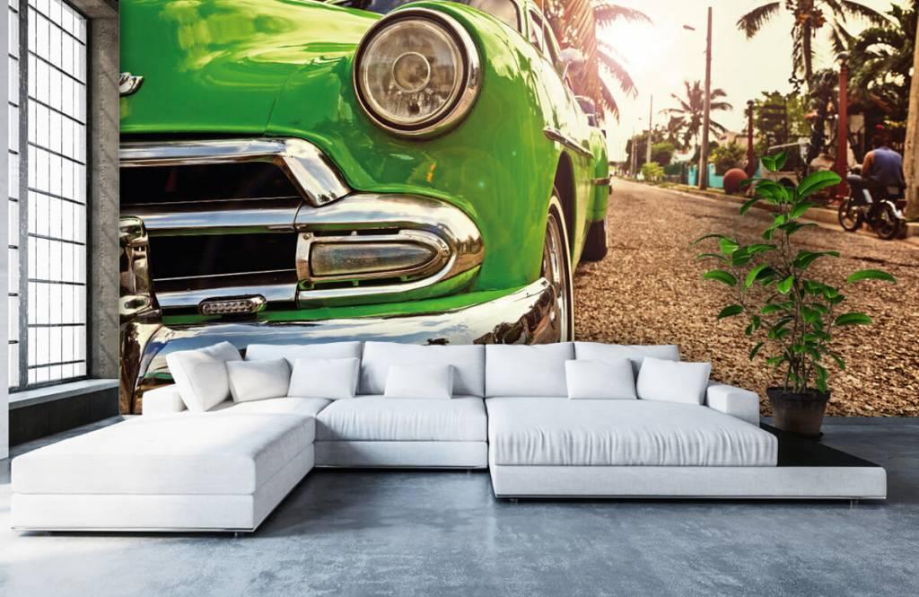 Transport - Groene klassieke auto - Slaapkamer 1