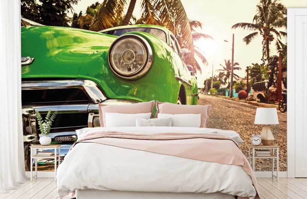 Transport - Groene klassieke auto - Slaapkamer 2