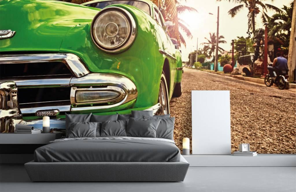 Transport - Groene klassieke auto - Slaapkamer 3