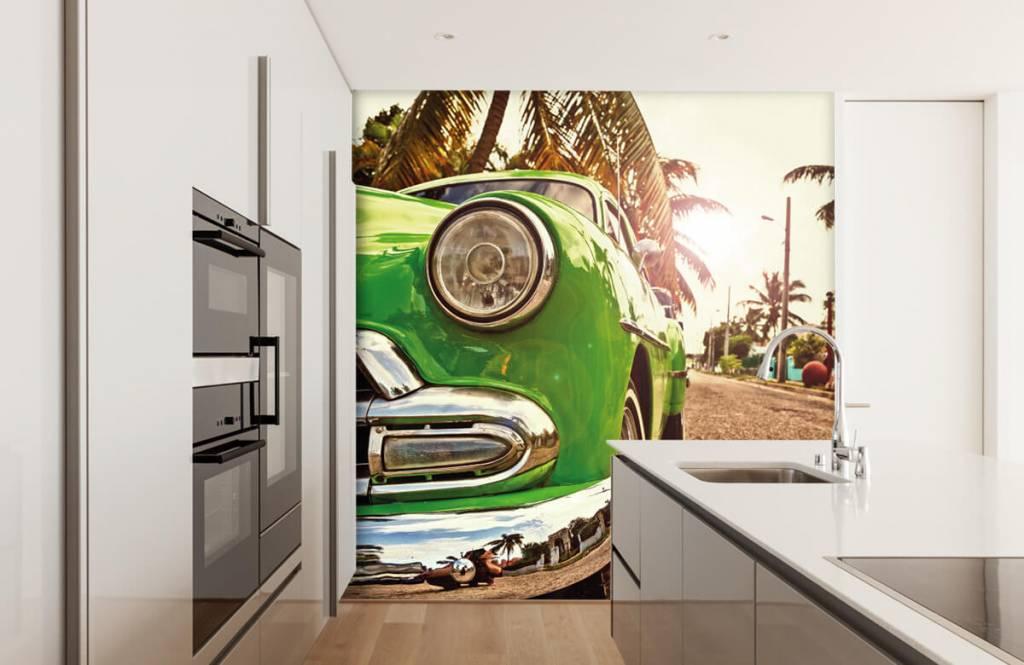 Transport - Groene klassieke auto - Slaapkamer 4