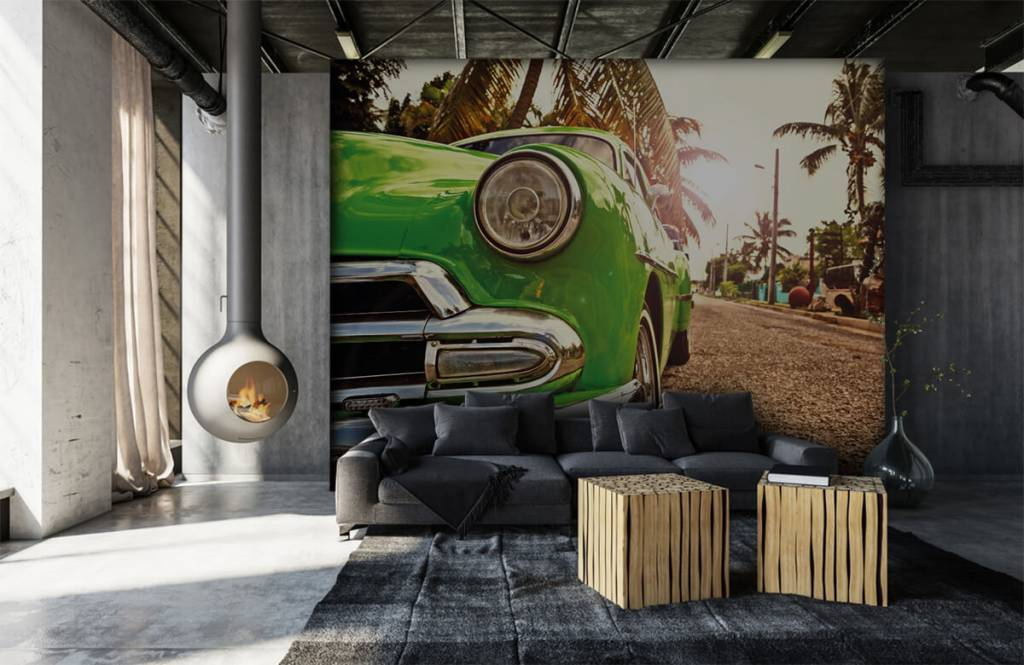 Transport - Groene klassieke auto - Slaapkamer 6