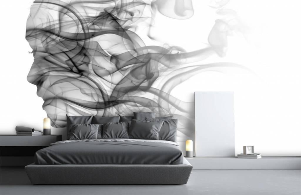 Modern behang - Hoofd gevormd uit rook - Kantoor 3