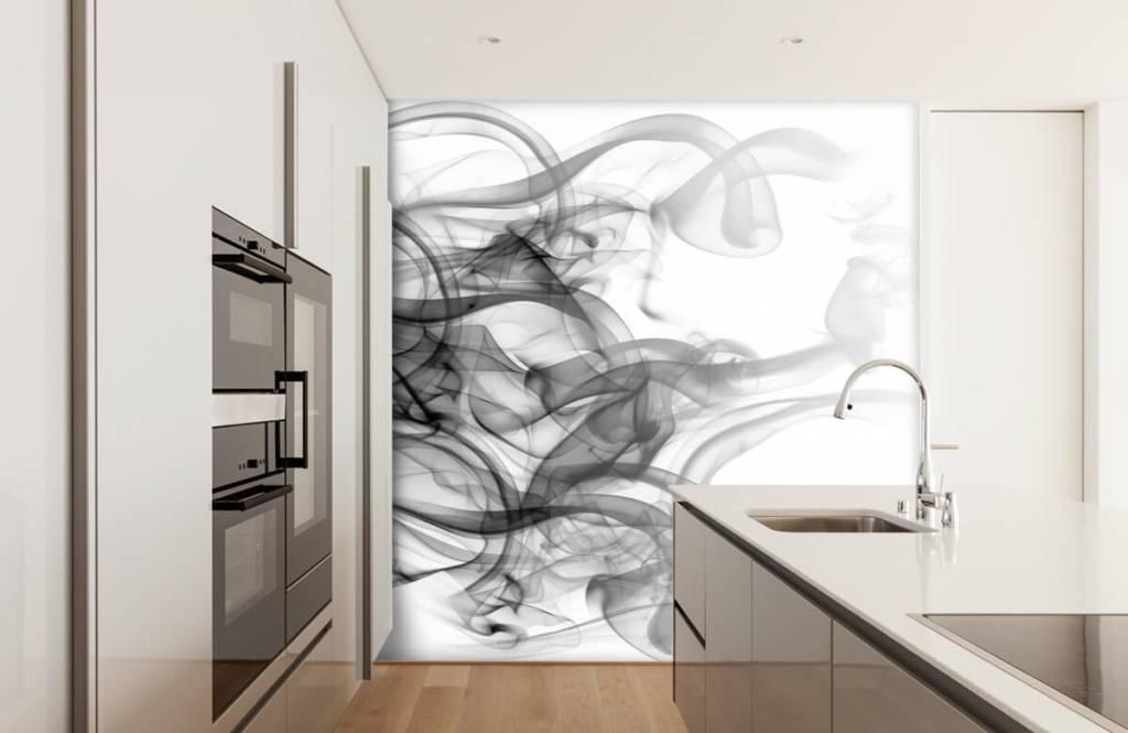 Modern behang - Hoofd gevormd uit rook - Kantoor 4